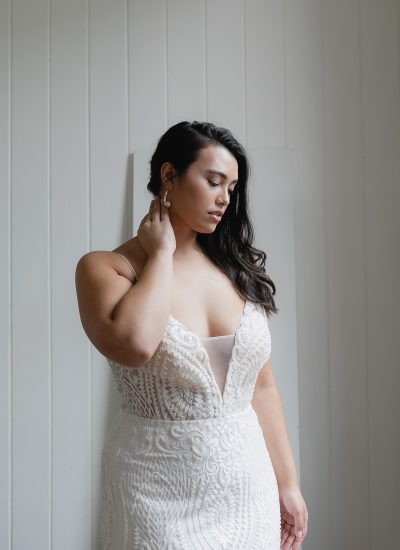 Lace wedding dress available in Adelaide by Hera Couture