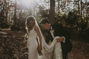 Simple white silk wedding dress Adelaide