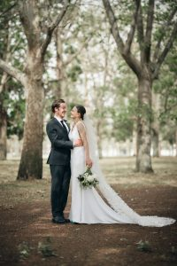 Simple white wedding dress Adelaide