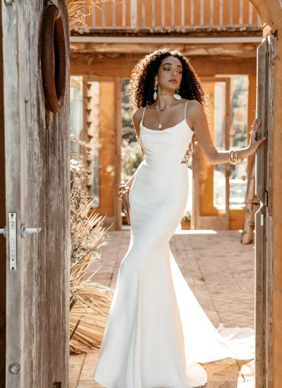 modern boho wedding dress by lovers society in Adelaide